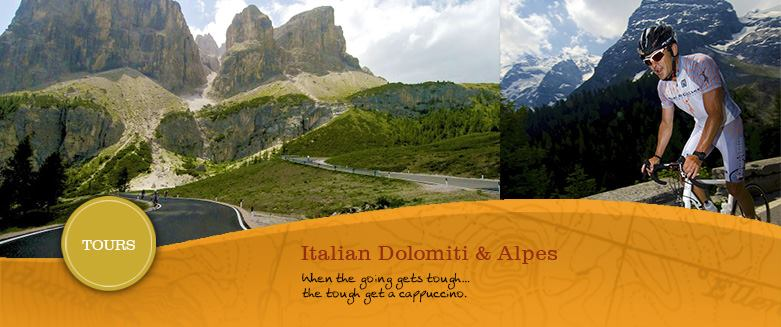 dolomite and italian alps cycling tours & cycling holidays